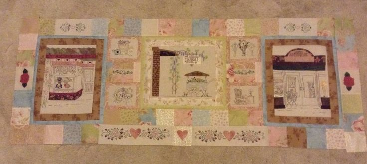 Bottom section - Girls day out - pattern by Libby Richardson. Using Aviary fabrics.