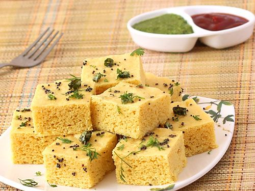 Vati Dal Khaman Dhokla - Spongy and Fluffy  Gram Dal Dhokla. This too is healthy n delicious. Bengali snack - Gluten Free, Vegan