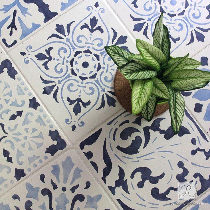 Renaissance Tile Stencils Set B