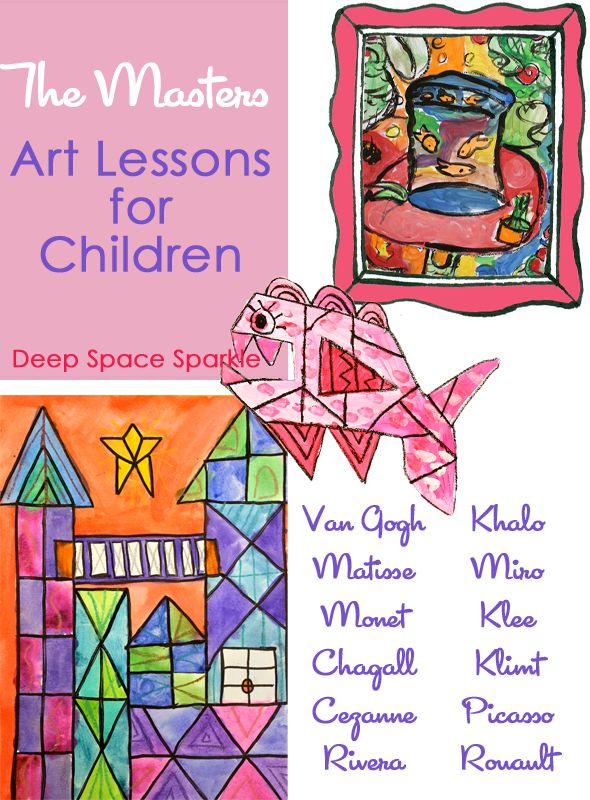 Teach the Masters- Art Lessons: A Round-Up of lessons from Deep Space Sparkle that focus on the Masters. Awesome!