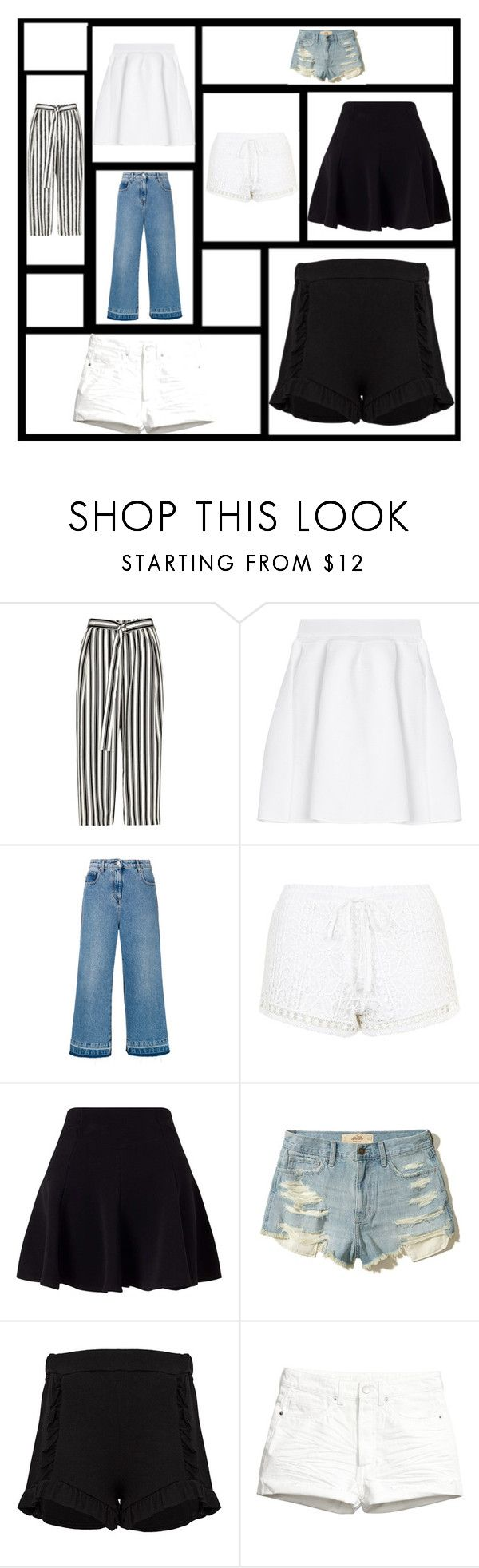 """TEN INFERIOR"" by aguiar-pilutti on Polyvore featuring moda, River Island, malo, MSGM, Topshop, Miss Selfridge, Hollister Co. y H&M"