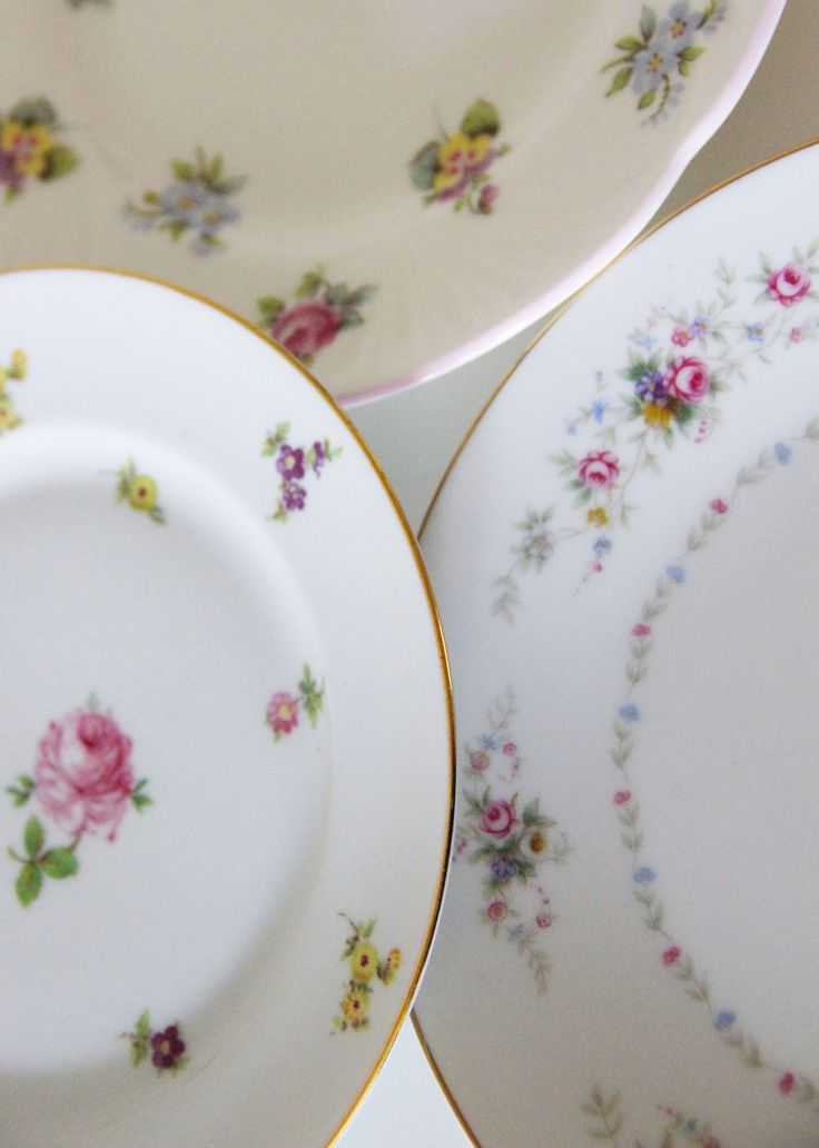 Vintage plate rental / floral china rental / mismatched china nyc / Vintage wedding inspiration - & 12 best Vintage China Plate Rentals in New York City images on ...