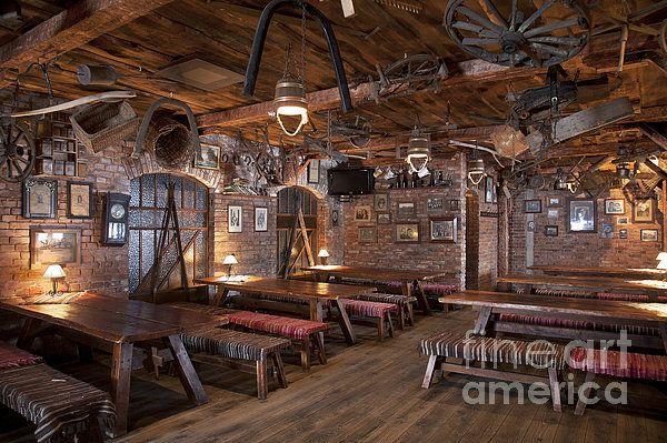 Rustic Restaurant Seating by Jaak Nilson  Rustic