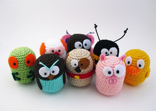 so cute: Uncinetto Animali, Learning To Crochet, For Kids, Cute Ideas, Amigurumi Stuff, Kinder Eggs, Amim Uncinetto, Crochet Eggs, Animali Colour