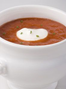 Dean Ornish-Roasted tomato soup...looks yummy and healthy