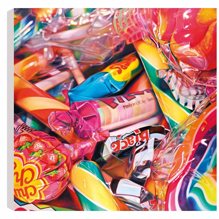Sweet Dreams, by Sarah Graham #art #painting #photorealism #sweets