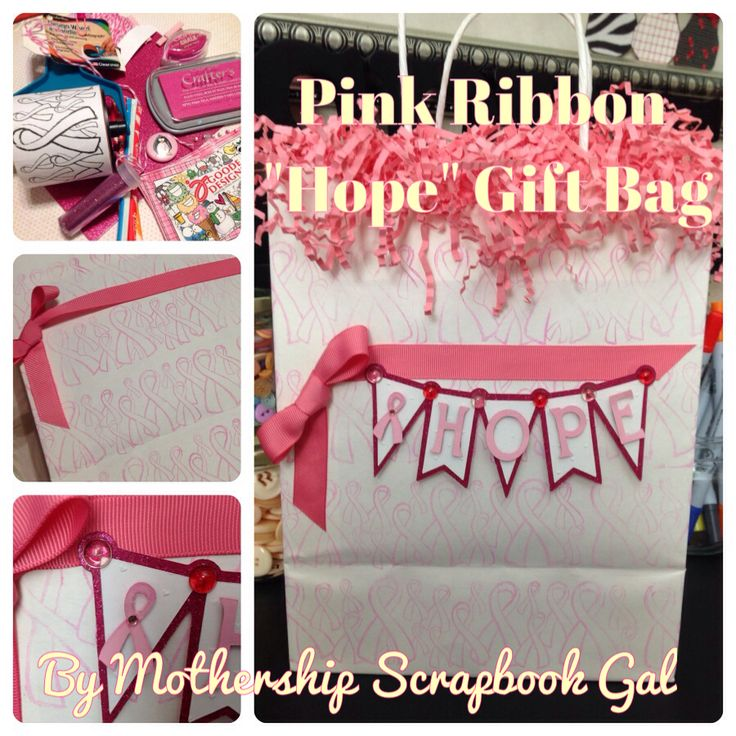 """Mothership Scrapbook Gal's DIY Pink Ribbon """"Hope"""" Gift Bag in 9 simple steps for the Jen Goode Designs Blog Hop (featuring Jen Goode's Jumbo Design Wheel & Handle by Rollagraph® manufactured by Clearsnap.)  Great gift bag for anyone who loves Pink or is going through Breast Cancer Treatment.  Check it out:  http://mothershipscrapbookgal.blogspot.com/2013/10/DIYPinkRibbonGiftBag.html"""