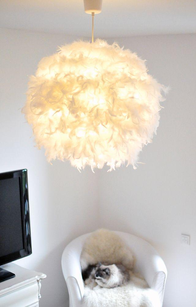 Es werde Licht! DIY: Federlampe   Wundervoll