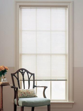 Internal aluminium venetian blind, alabaster colour, 25mm width