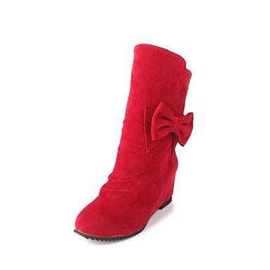 Runda toe pięty klina połowy łydki buty damskie (więcej kolorów) – EUR € 25.78