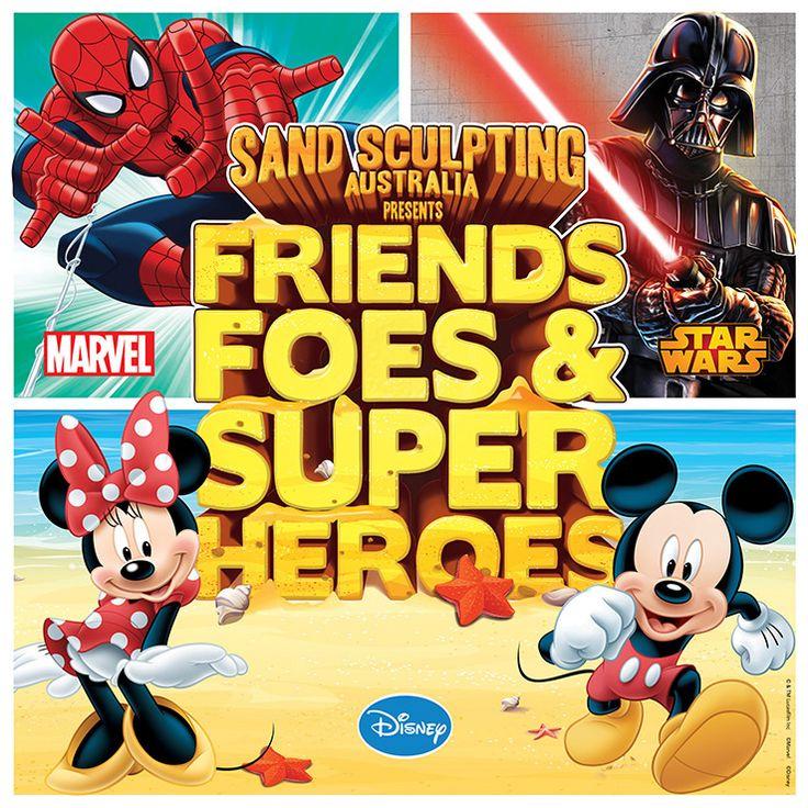 Sand Sculpting Frankston Friends Foes & Super Heroes