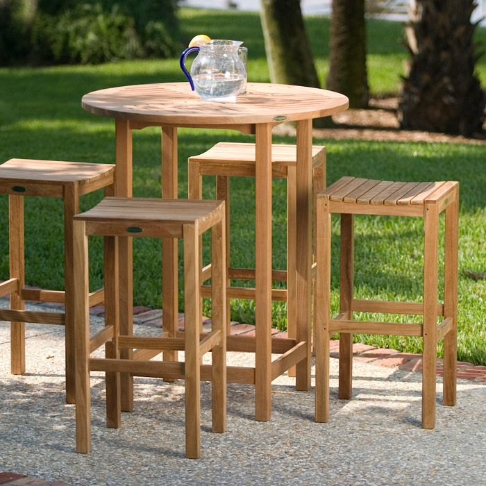 Somerset Teak Bar Stool And Bar Table Set Somerset Teak