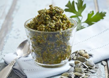 Opskrift på hjemmelavet pesto med græskar