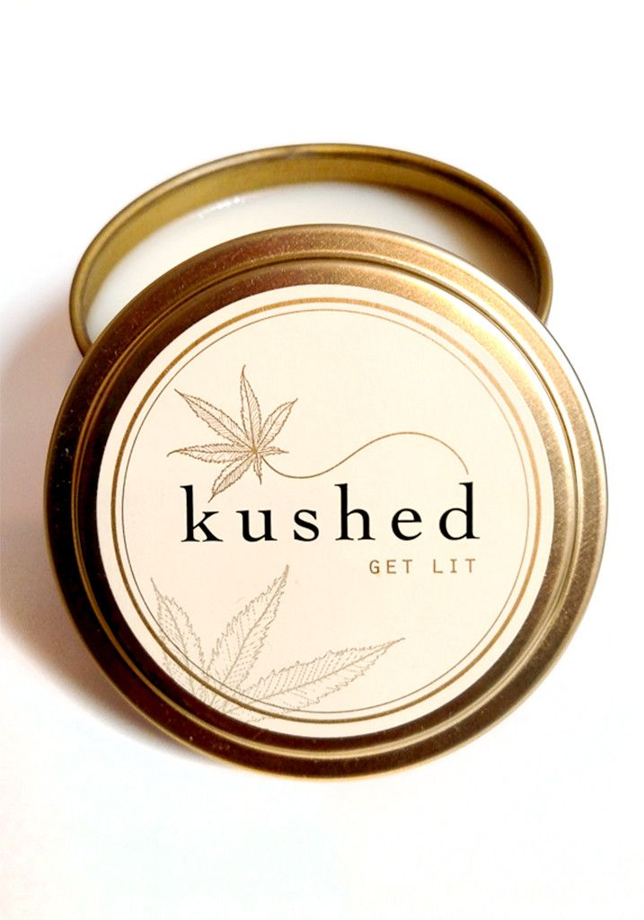 Get Lit! Relax your mind and soothe your soul... Kushed Candles are a little taboo, a little risqué, and a lot of fun. They're infused with Cannabis flower essential oil which is obtained by stem dist