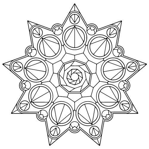 57 free coloringadult coloringcoloring bookgeometric mandalacoloring pages mandalasacred geometryart therapycrownsmandala drawing