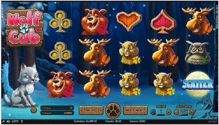 Wolf Cub ist ein 5-Rollen, 3-Reihen Spielautomat mit Wild-Substitutionen, ScatterSymbolen, Free Spins und einer Blizzard-Funktion. #Slots #spielautomate #slotspiel #free #Gewin #jackpot