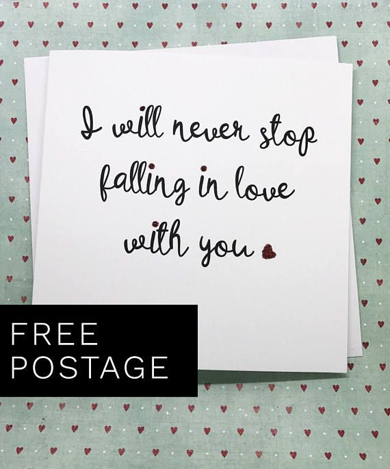 Falling In Love Love You Card Anniversary Card Wife Anniversary