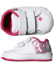 DC SHOES BABY COURT GRAFFIK CRIB SHOE - WHITE PINK on http://www.surfstitch.com