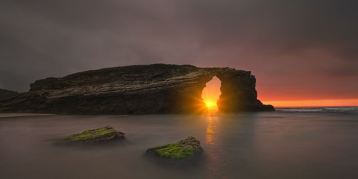 Praia das Catedrais sunset