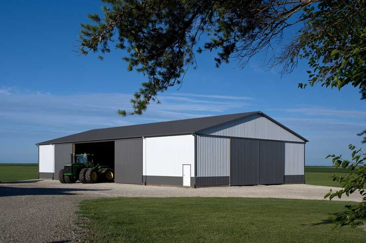 Machine shed pole barn hoopeston illinois fbi for Pole barn equipment shed