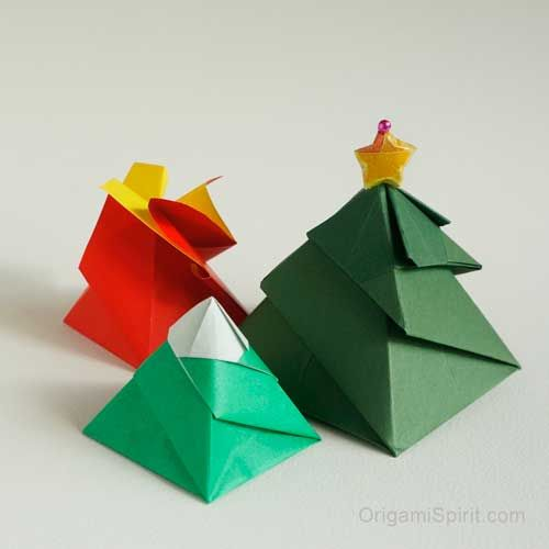 One Origami Box, Three Variations