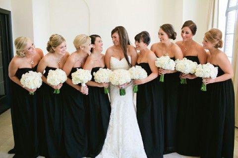 Vestidos de Damas de Honor de color Negro 6