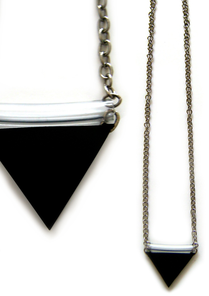 necklace from rubber tubes!