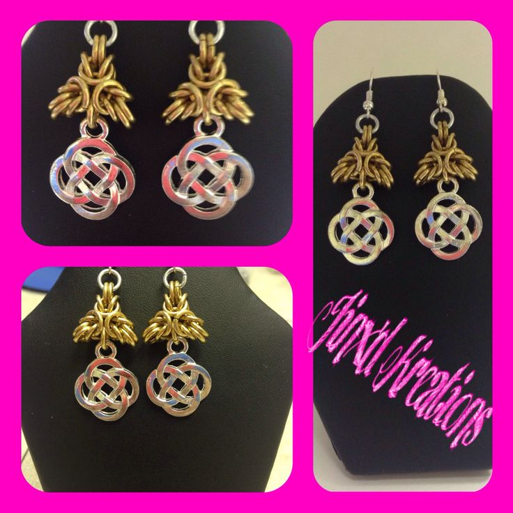A personal favorite from my Etsy shop https://www.etsy.com/ca/listing/245484246/byzantine-celtic-knot-earrings