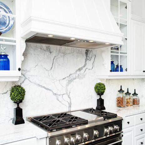 Calacatta borghini italian marble for a backsplash oh yes Italian marble backsplash