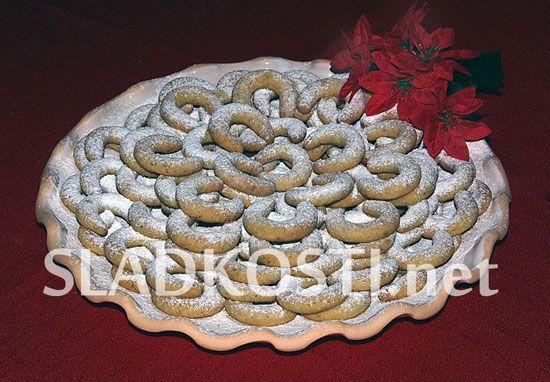 Vanilkové rohlíčky sádlové