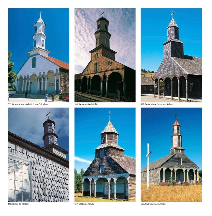 Iglesias de Chiloe, libro Recorriendo Chile de Norberto Seebach
