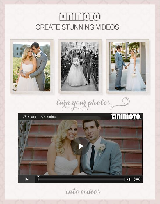 Animoto: Animoto App, Bf Stuff, Wedding Photography, Rehearsal Dinners, Wedding Videos, Animoto Cool Ideas, Pre Wedding, Apps No, Diy Wedding