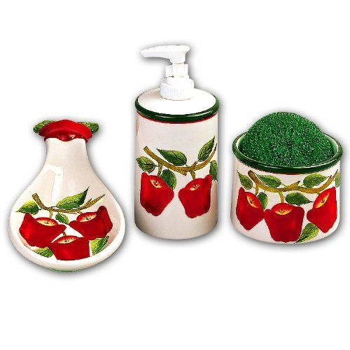 Apple kitchen decor accessories google search kitchen dining room pinterest ceramics for Home interiors apple orchard collection