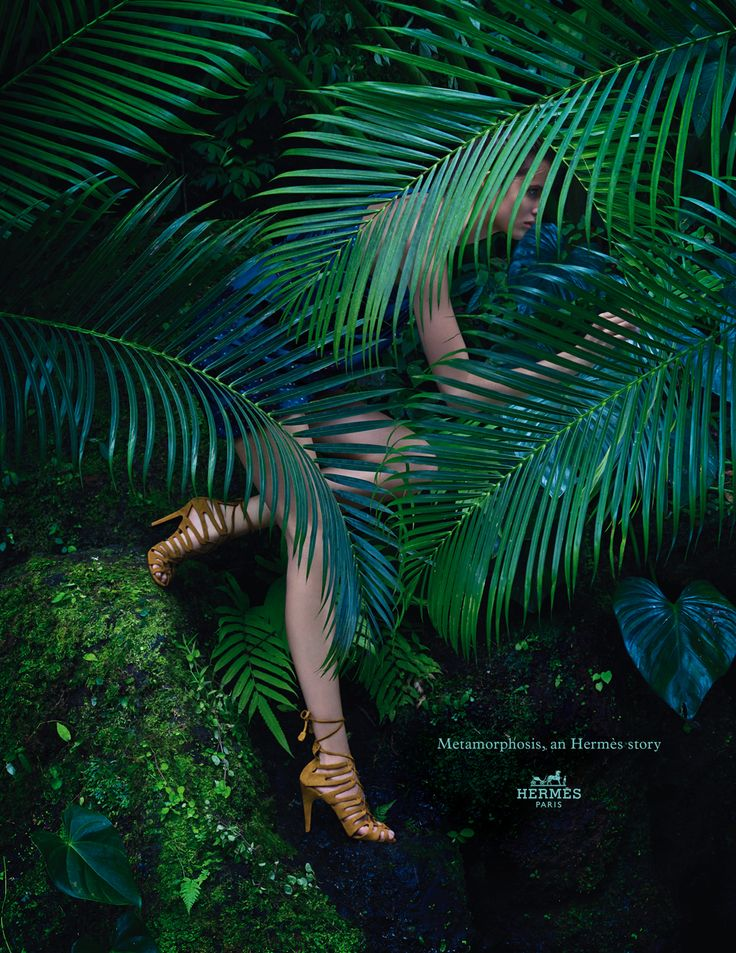 Metamorphosis, an Hermès story. Sandals in suede goatskin. Hermès 2014 spring-summer campaign. #hermes #fashion
