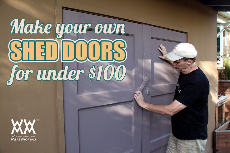 Garden shed doors are really easy to make. Free video and how-to article.