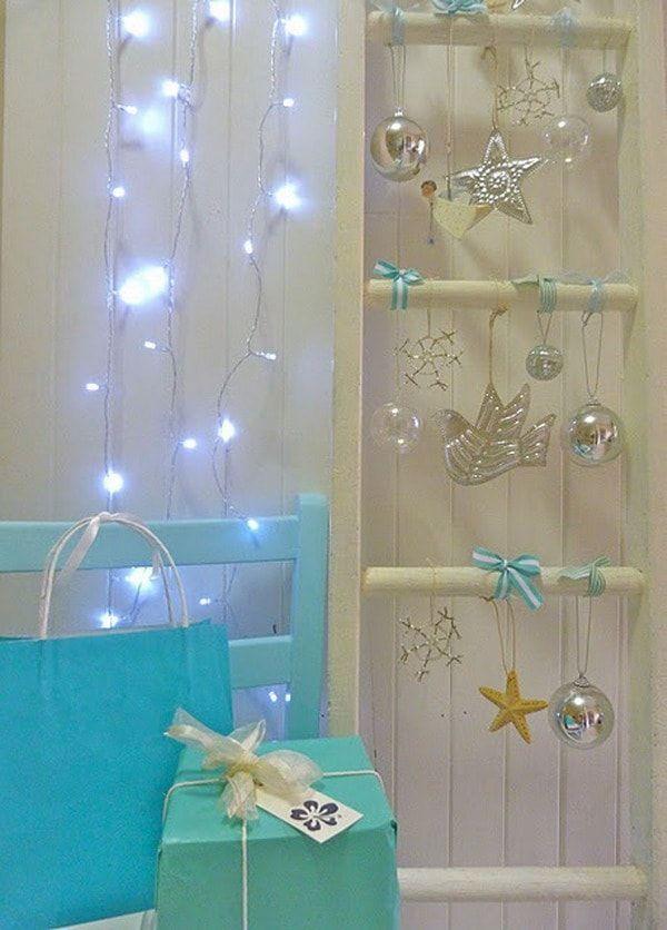Decoración azul para la Navidad