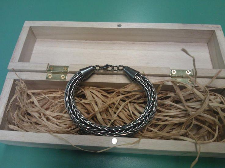 Patinoitu hopeinen viikinkiketju / Vikin chain antiqued