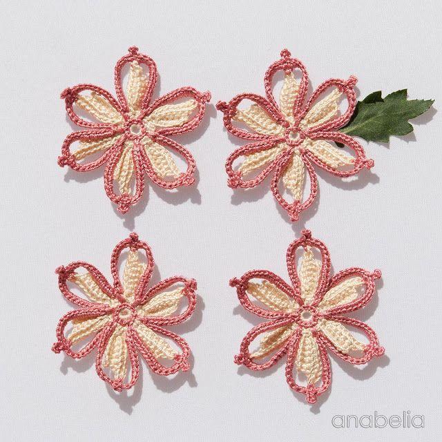 Crocheting flower motifs, Anabelia Craft Design <3