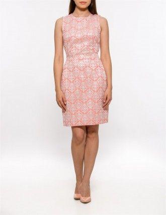 Rochie Jacquard roz