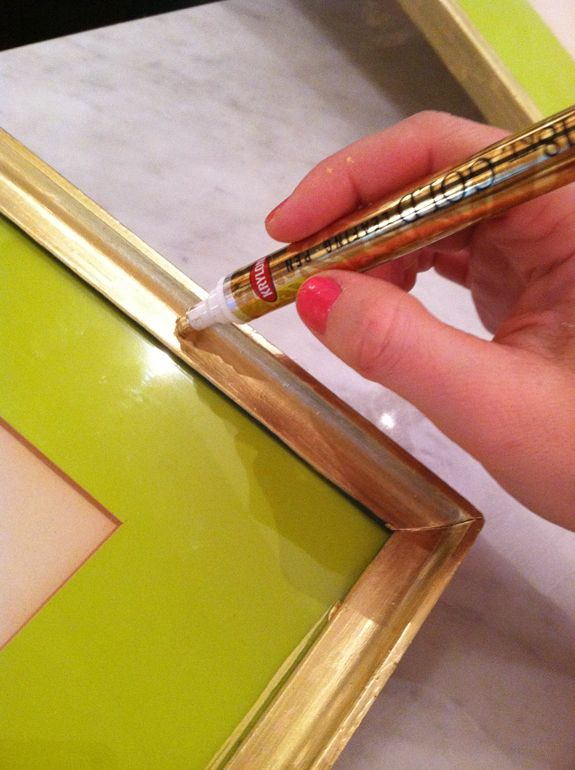 Gold Leaf Pen to transform a frame
