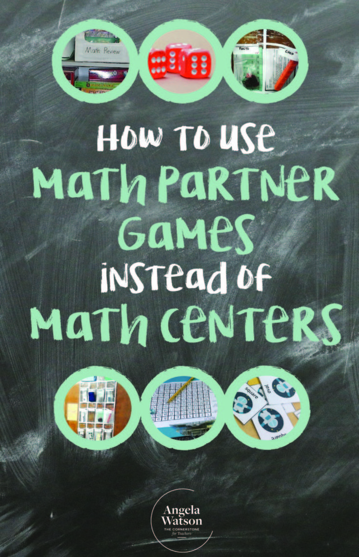 How to use math partner games instead of math centers