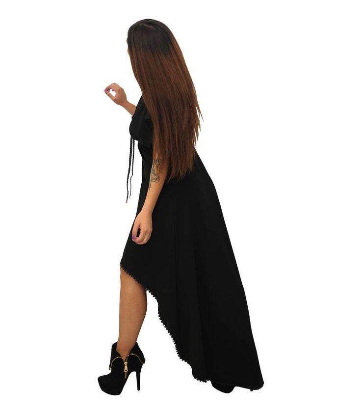 Glamour ασύμμετρο φόρμα με κορδόνι