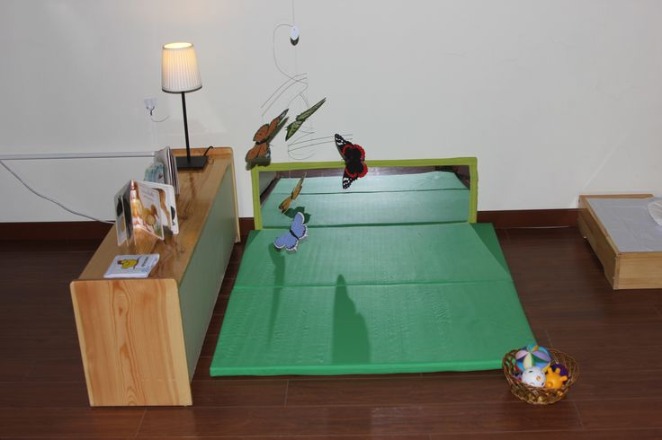 Activity Mat With Mirror And Butterfly Mobile Montessori