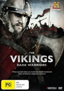 DVD - The Vikings: Dark Warriors.  A wild and unforgettable journey across land and sea, revealing dark Viking secrets along the way