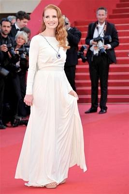 Jessica Chastain porte les bijoux d'Elizabeth Taylor