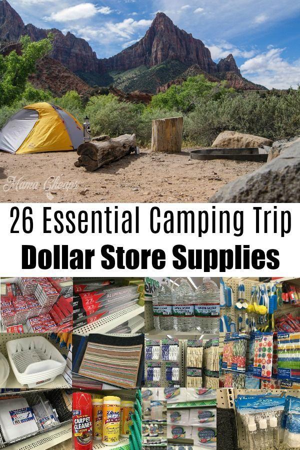 26 Wesentliche Camping Trip Dollar Store Supplies