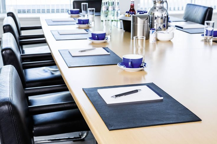 Genuine leather desk mats are the ultimate accessory for boardrooms. Simple, stylish and durable.