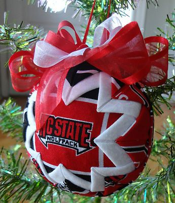 NC State University Wolfpack Inspired Quilted Christmas Ornament via Etsy
