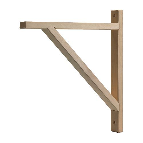 EKBY VALTER Bracket IKEA Untreated wood; can be treated with oil, wax or glazing paint for increased durability and a personal touch.