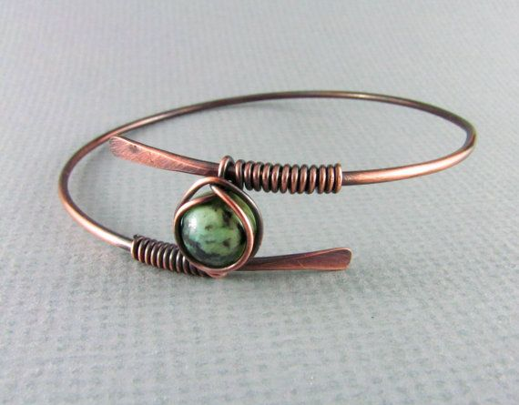 Copper Bracelet Wire Wrapped Bracelet African от PolymerPlayin